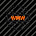 online, web, wide, world icon