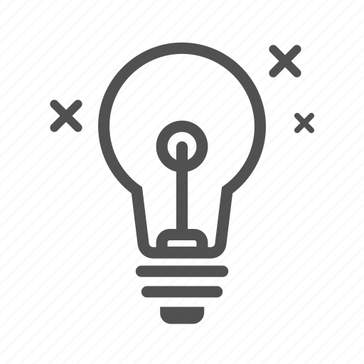 bulb, electricity, light, lightbulb, outline icon