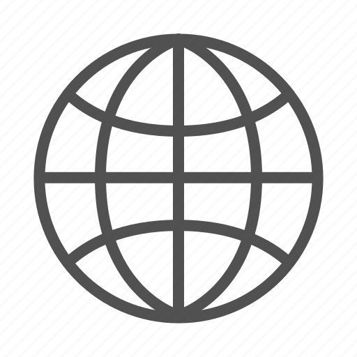 globe, network, outline, world icon