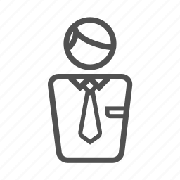 businessman, customer, employee, man, outline, person icon