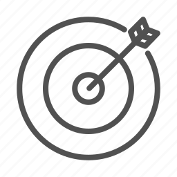 aim, business, goal, outline, target icon