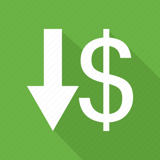 Arrow, dollar, down, money, pay, sign icon - Download on Iconfinder