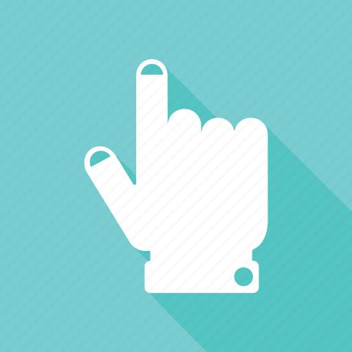 computer, cursor, finger, hand, pointer icon