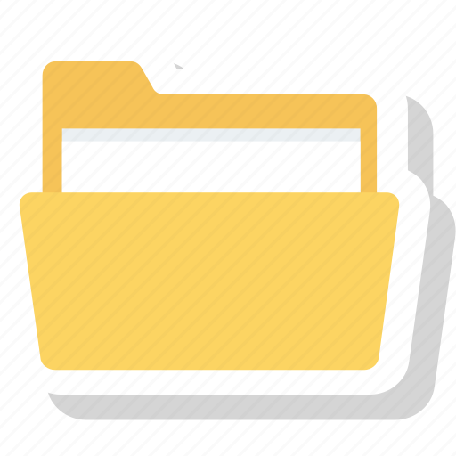 document, file, folder, office icon icon