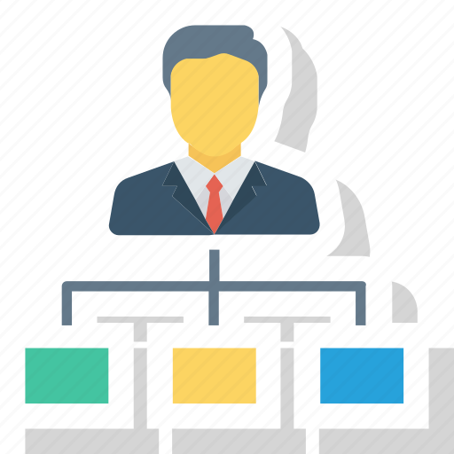 business, hierarchy, leadership, management, organization, structure, team icon icon