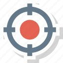 shoot, crosshair, target icon icon