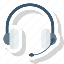 ear, head, headset, phone, radio icon icon