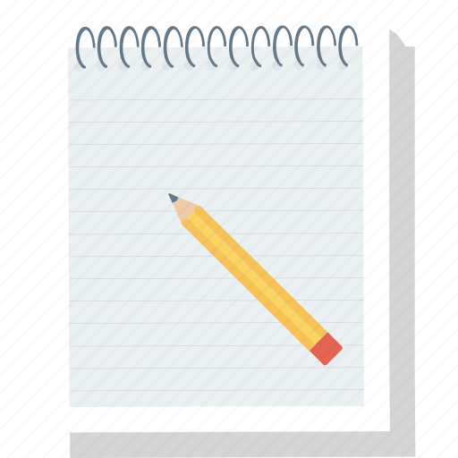 message, note, notepad, pad icon, pencil icon