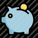 bank, coin, finance, money, piggy