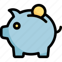 bank, coin, finance, money, piggy icon