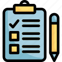 data, document, paper, pencil, report icon