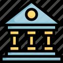 architecture, bank, building, estate, greek
