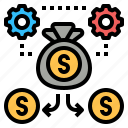 business, capital, finance, fund, investment, marketing, money icon