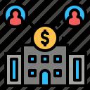 bank, business, company, corporation, enterprise, finance, organization icon