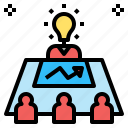 business, conference, director, education, learn, meeting, plan icon