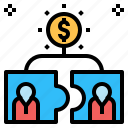 business, finance, firm, marketing, money, partnership, shareholder icon