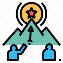 achievement, aim, ambition, focus, goal, mission, target icon