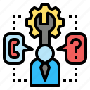 aid, assistant, help, information, operator, service, support icon