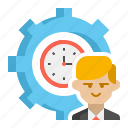 efficient, employee, productivity, time icon