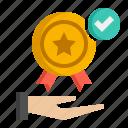 award, medal, reward, winner