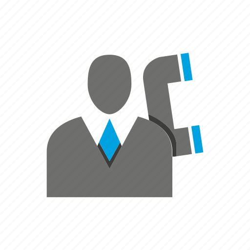 avatar, business man, call, office, person, phone, profile icon
