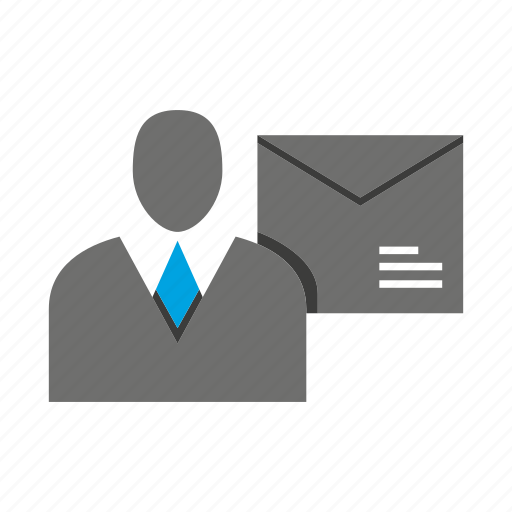 avatar, business man, email, letter, office, person, profile icon