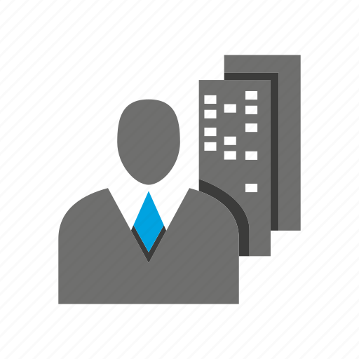 avatar, building, business man, office, person, profile icon