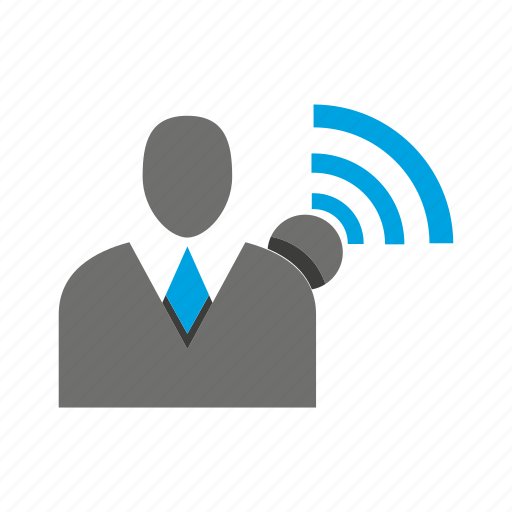 avatar, business man, office, person, profile, signal, wifi icon