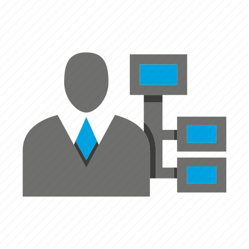 avatar, business man, chart, diagram, office, person, profile icon