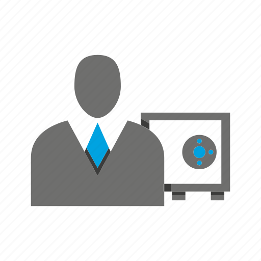avatar, business man, office, person, profile, safe icon