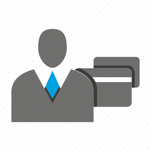 avatar, business man, credit card, office, payment, person, profile icon
