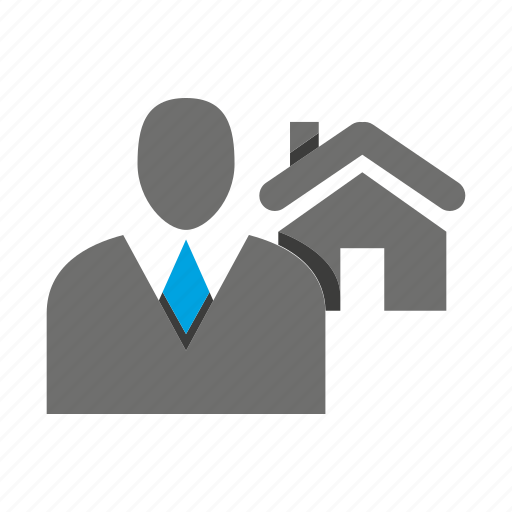 avatar, business man, home, house, office, person, profile icon