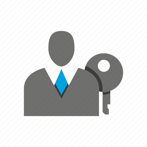 avatar, business man, key, office, person, profile, sucirity icon