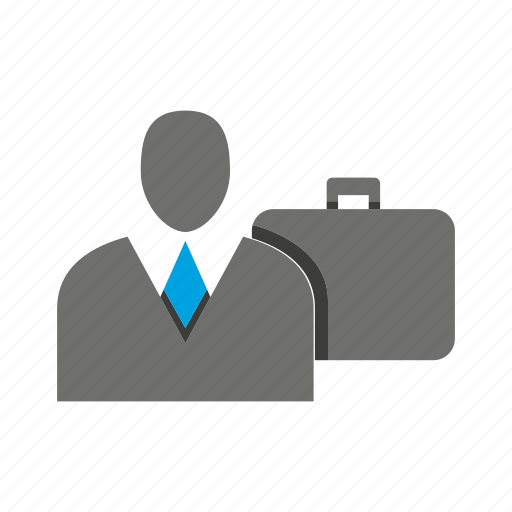 avatar, bag, briefcase, business man, office, person, profile icon