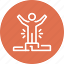 chart, data, efficiency, management, person, productivity, statistics icon