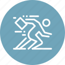 business, businessman, human, hurry, person, run, rush icon