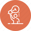 brainstorming, bulb, business, idea, light, person, solution icon