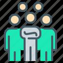 group, leader, leadership, nation, people, team, teamwork icon