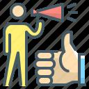 key opinion leaders, kol, marketing, orator, pr, public, speaker icon
