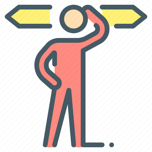 choice, condition, decision, path, person icon