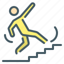 disaster, failure, fall, human, person, slipped icon