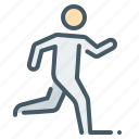 human, person, run, runner icon