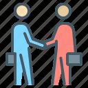 businessmen, contract, handshake, arrangement, business, partners icon