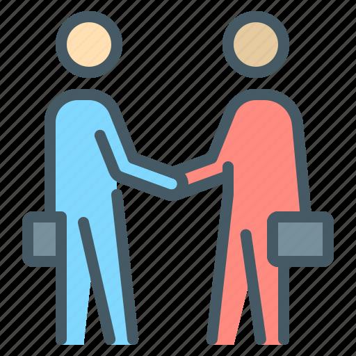 arrangement, business, businessmen, contract, handshake, partners icon