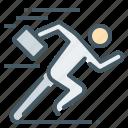 achievement, business, quick, run, runner, rush, start icon