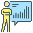 business, chart, person, report, statistics icon