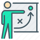 business, flipchart, plan, strategy, training icon