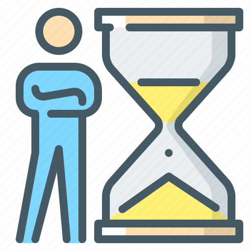 business, deadline, hourglass, management, time, time management icon