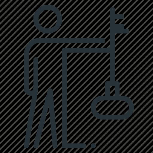 employee, human, key, person, skill, skilled icon
