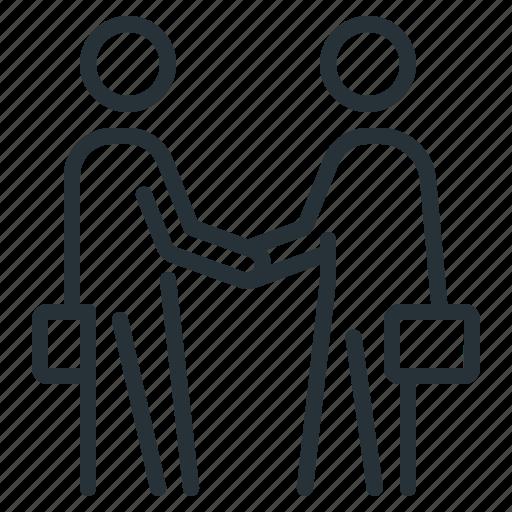 arrangement, businessmen, contract, handshake, partners icon